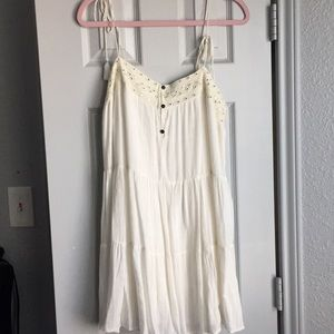 Short white dress